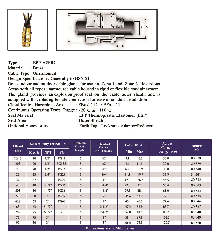 E.P.P - A2FRC Technical Datasheet