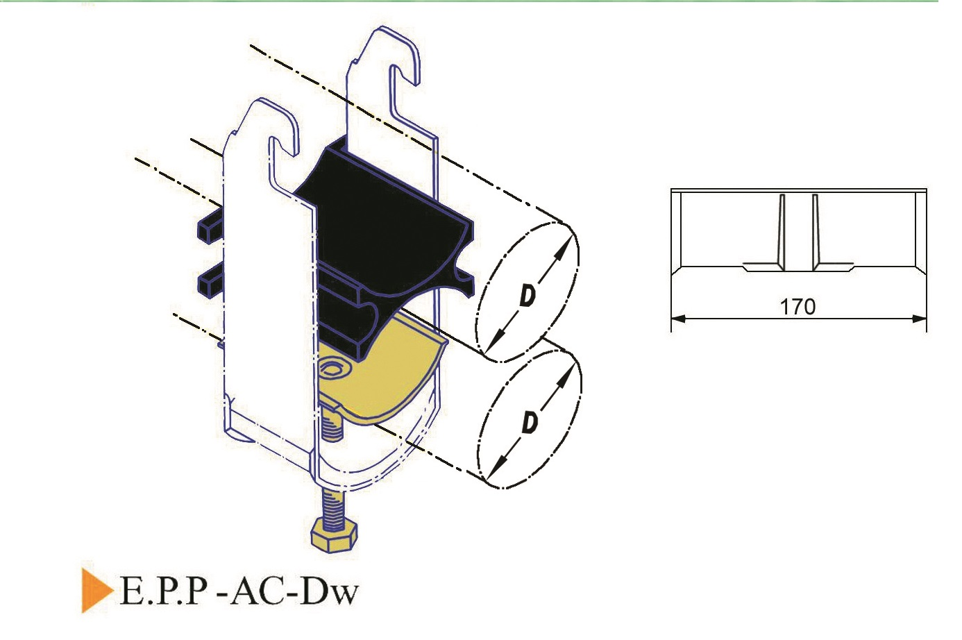 E.P.P-AC-Dw Cable Clamp