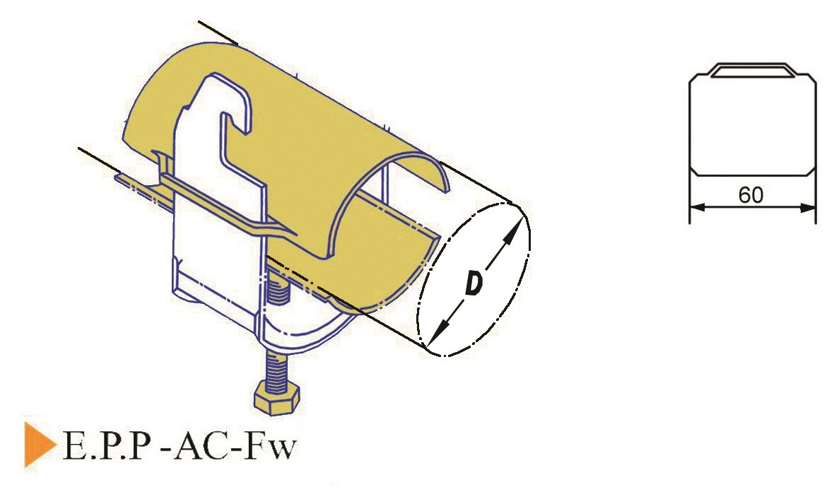 E.P.P-AC-Fw Cable Clamp