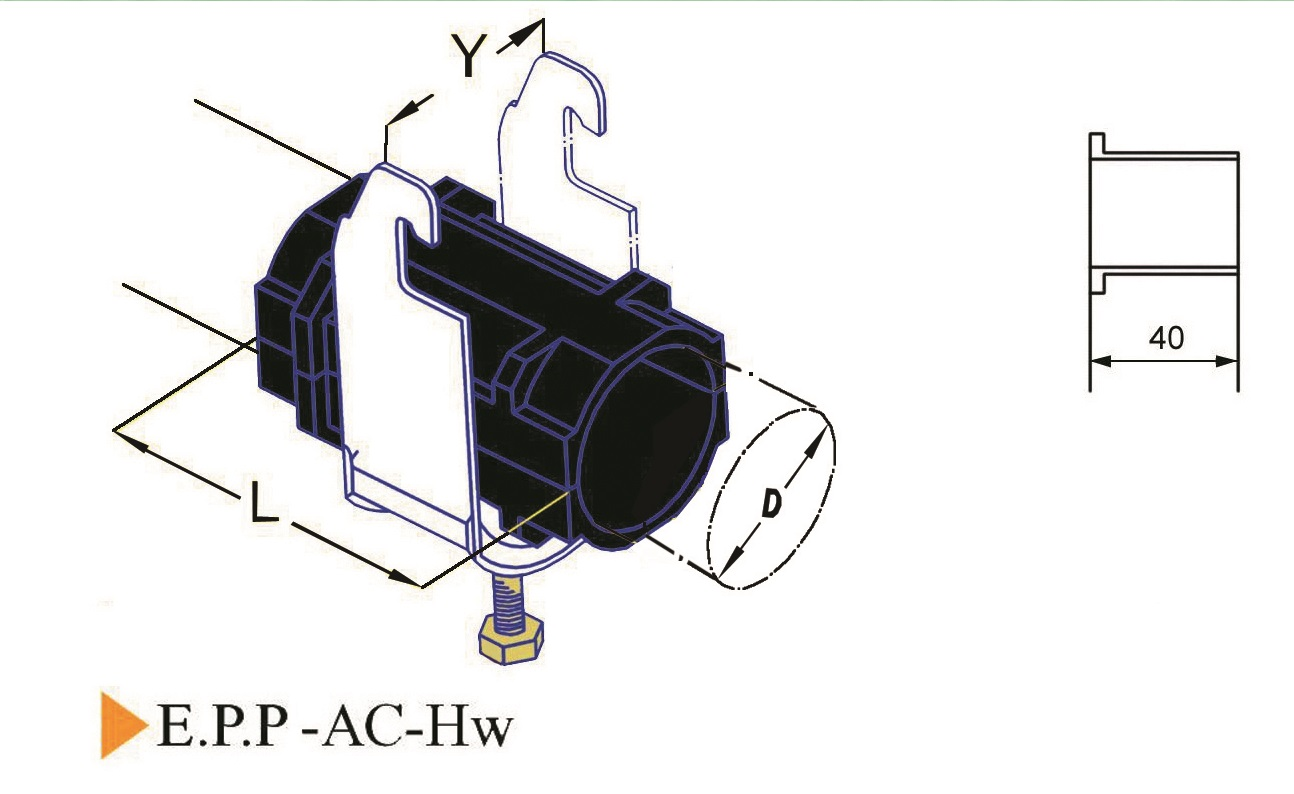 E.P.P-AC-Hw Cable Clamp