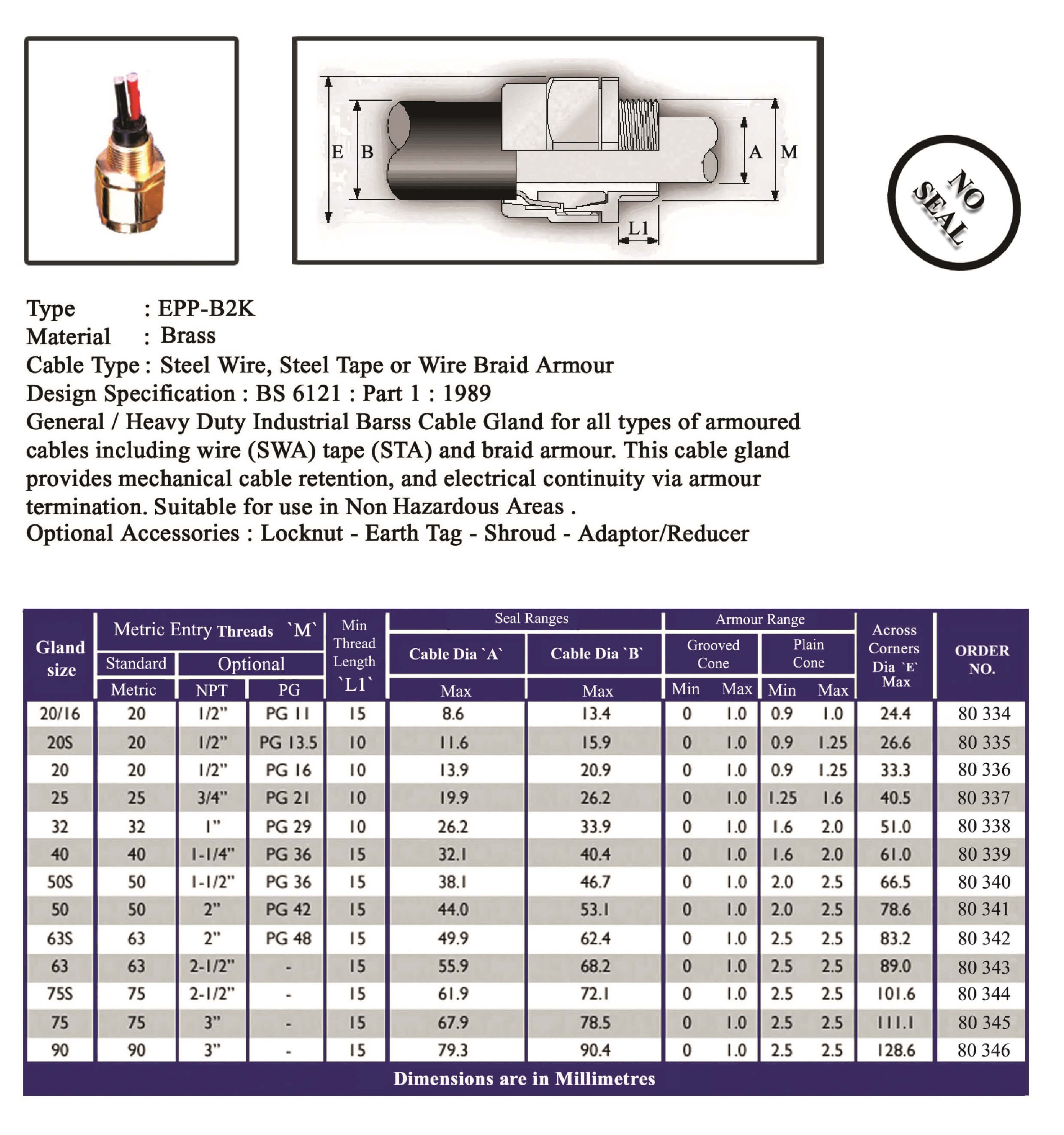 E.P.P - B2K Technical Datasheet