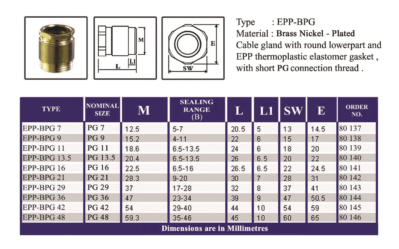 E.P.P - BPG Technical Datasheet