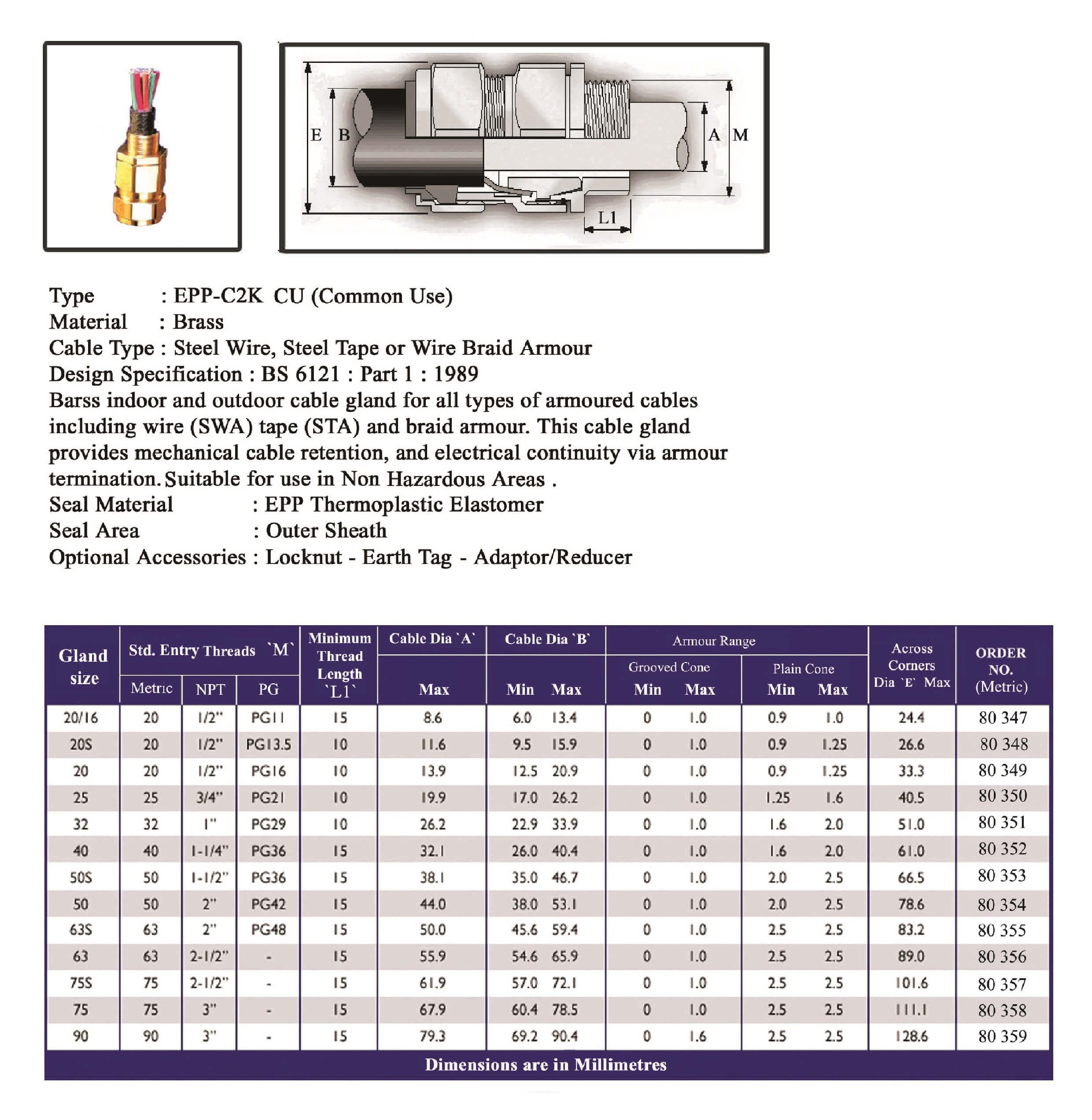 E.P.P - C2K CU (Common Use) Technical Datasheet