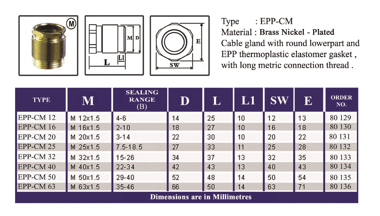 E.P.P - CM Technical Datasheet