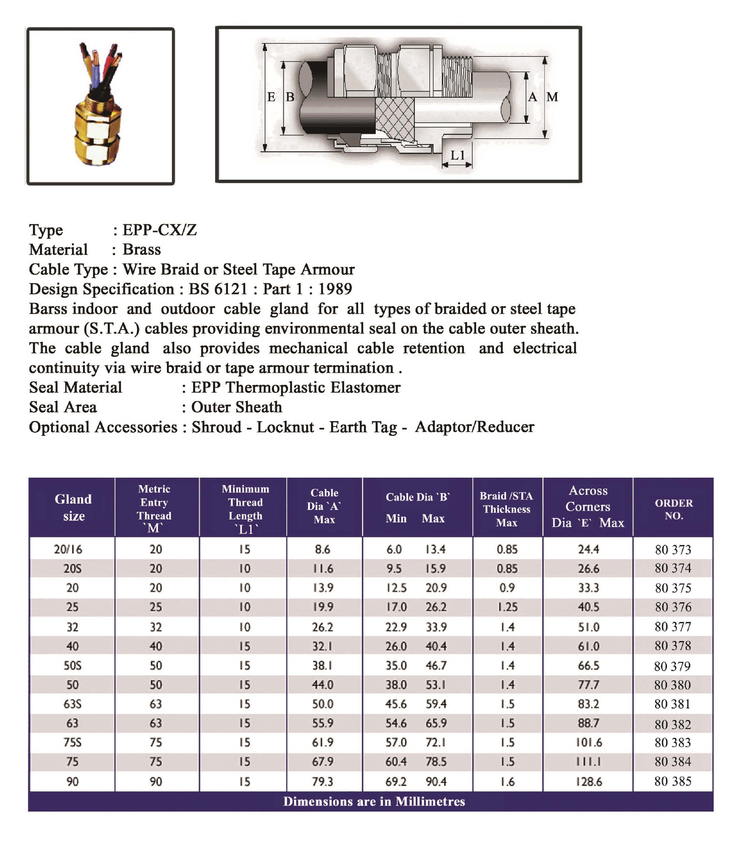 E.P.P - CXZ Technical Datasheet