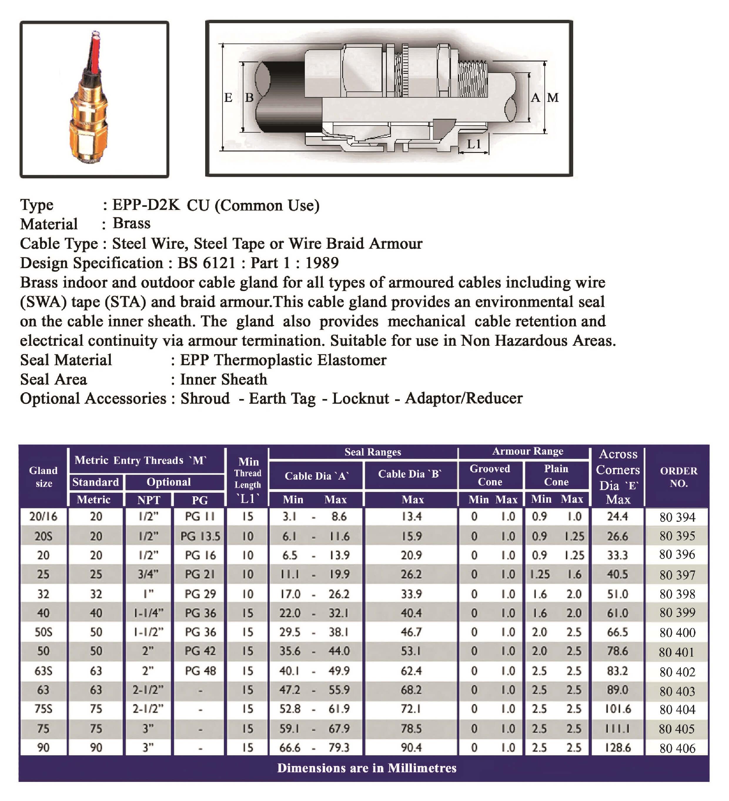 E.P.P - D2K CU (Common Use) Technical Datasheet
