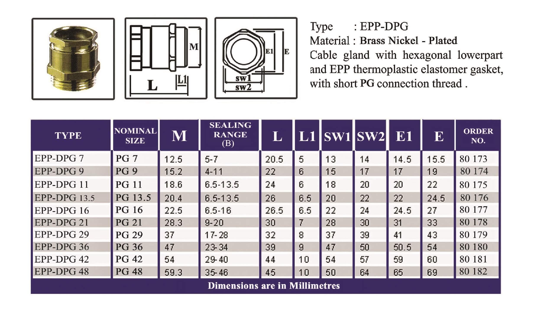 E.P.P - DPG Technical Datasheet