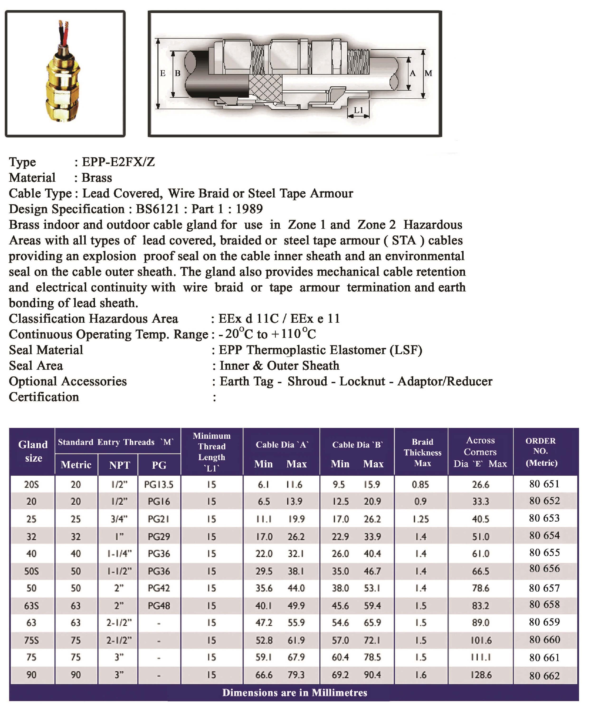 E.P.P - E2FXZ Technical Datasheet