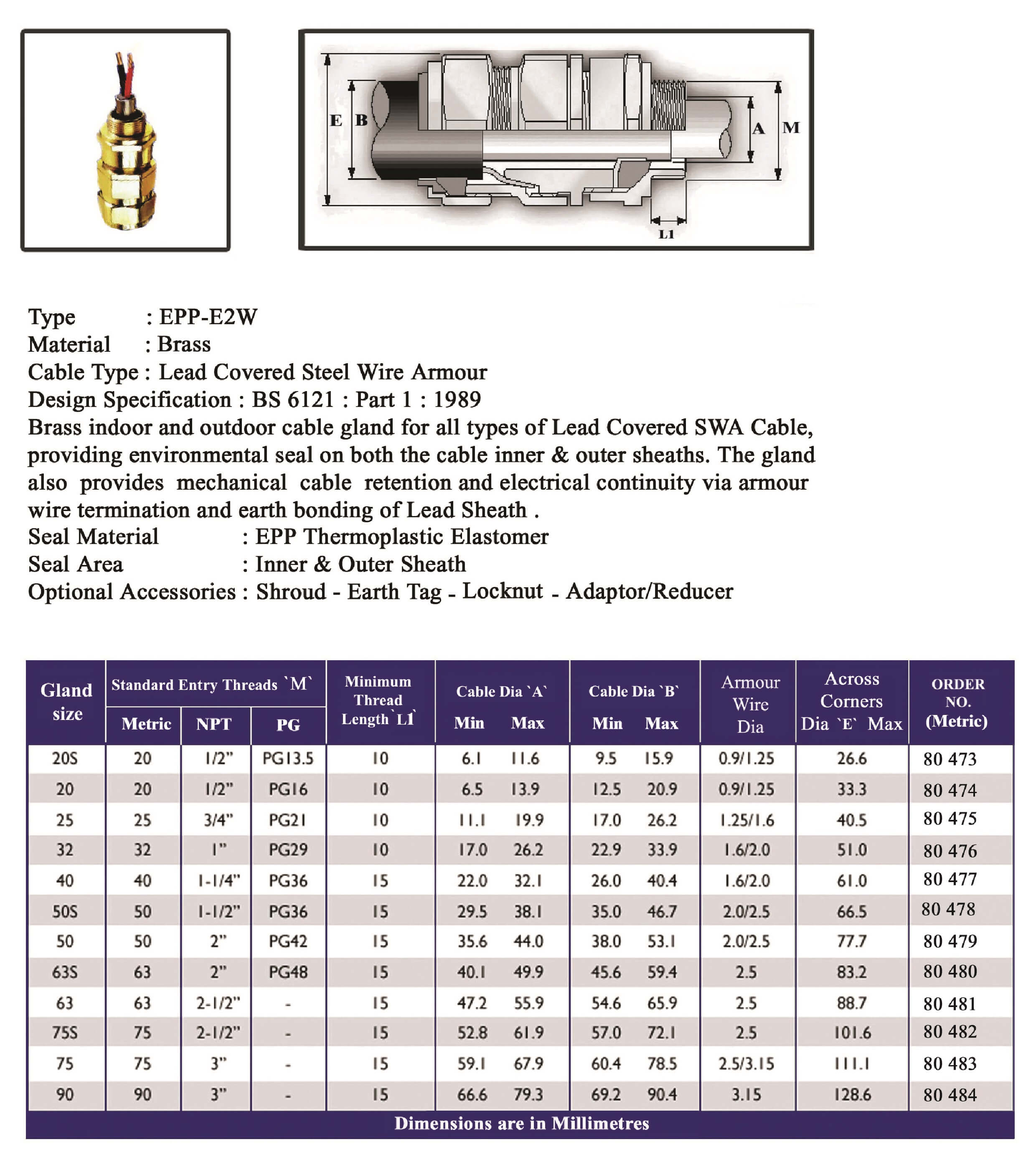 E.P.P - E2W Technical Datasheet