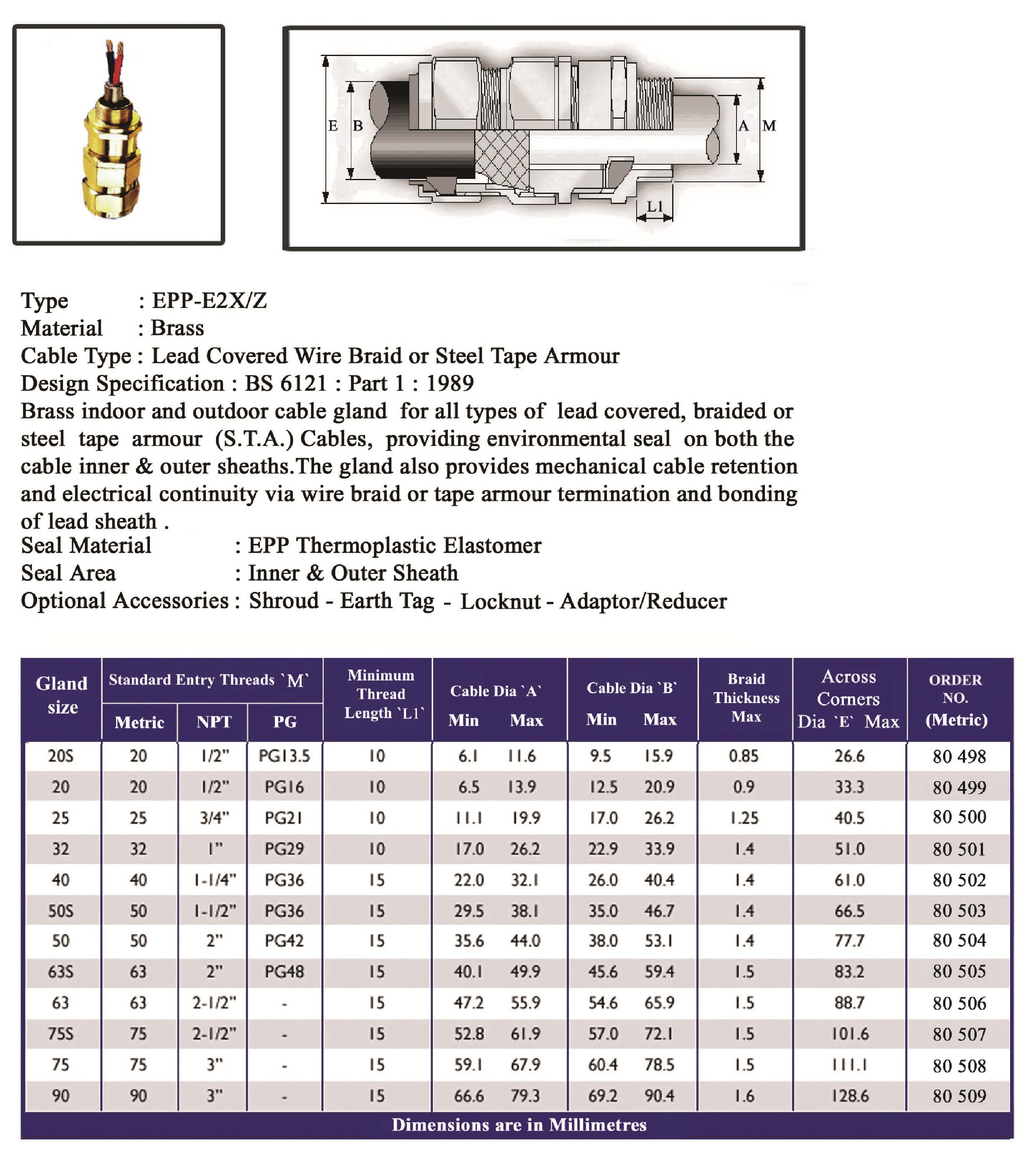 E.P.P - E2XZ Technical Datasheet