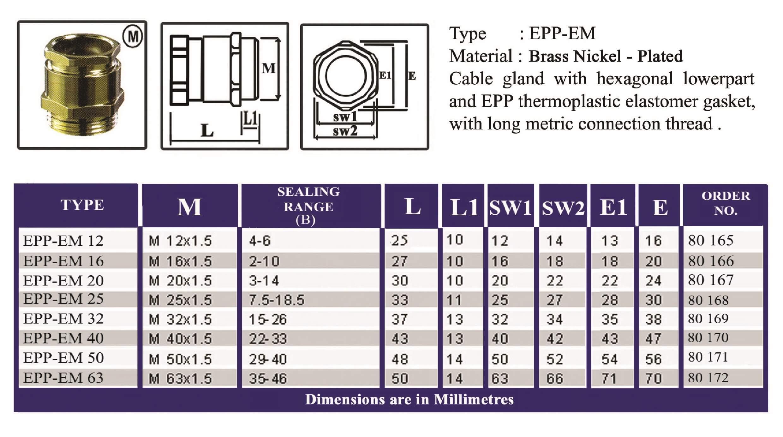 E.P.P - EM Technical Datasheet