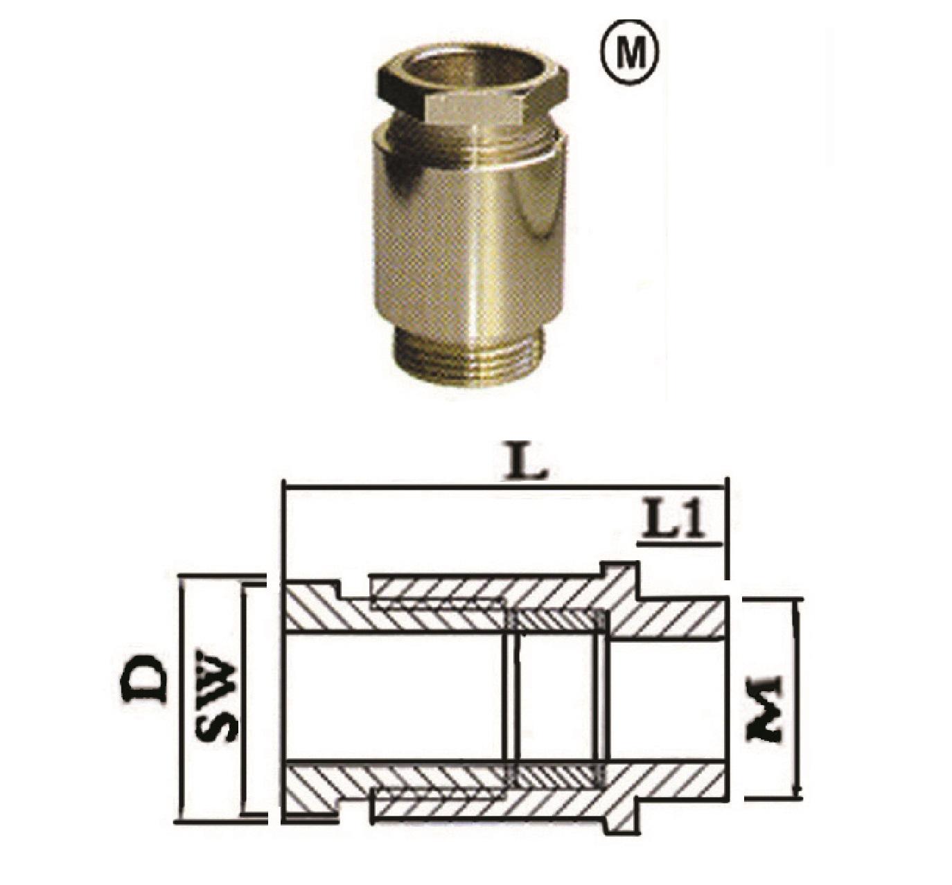 گلند کابل فلزی E.P.P - HM