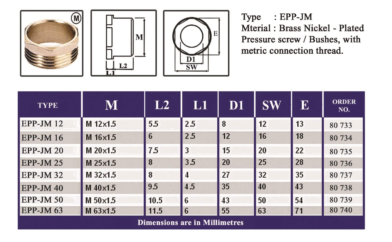 E.P.P - JM Technical Datasheet