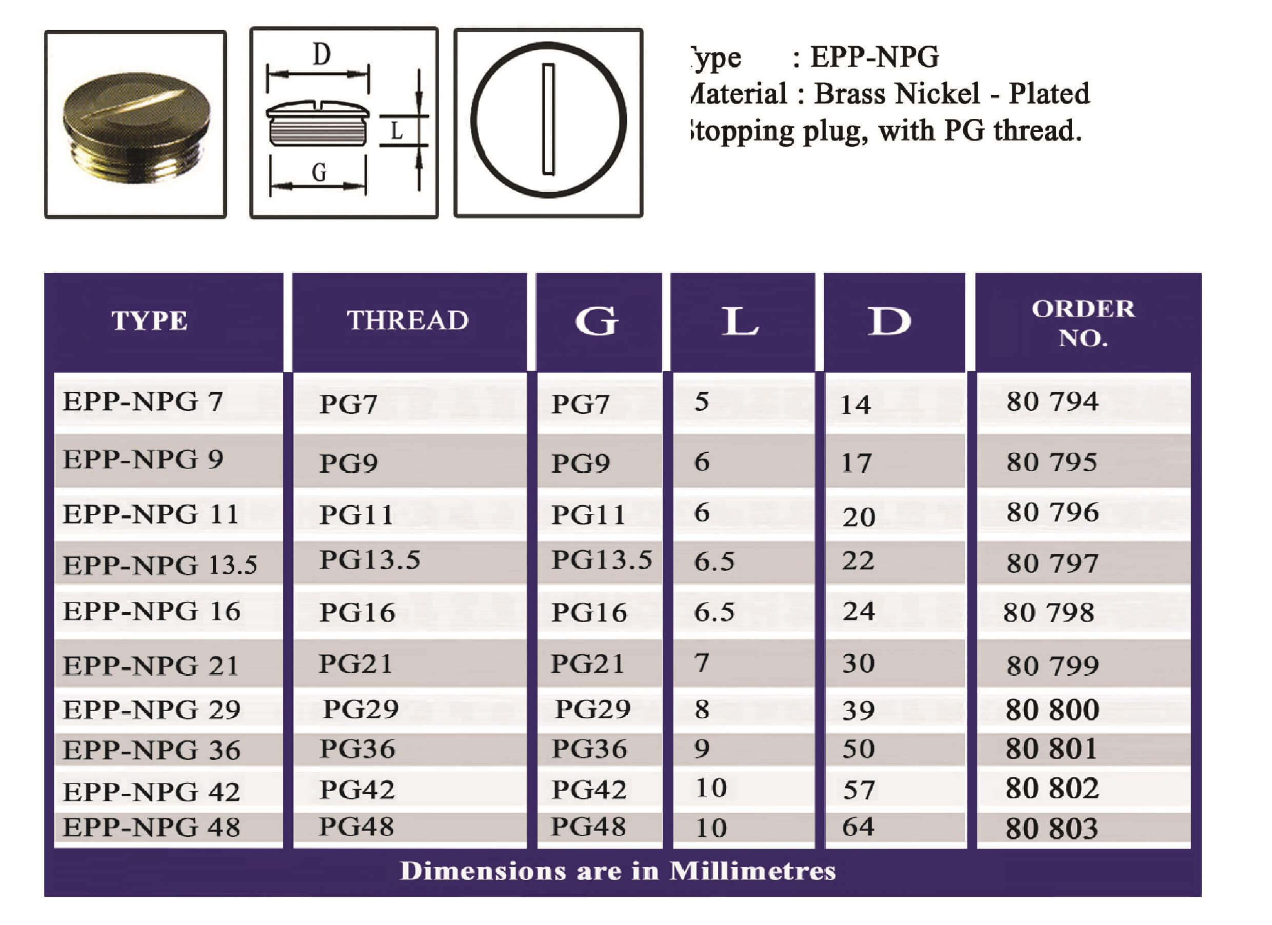 E.P.P - NPG Technical Datasheet