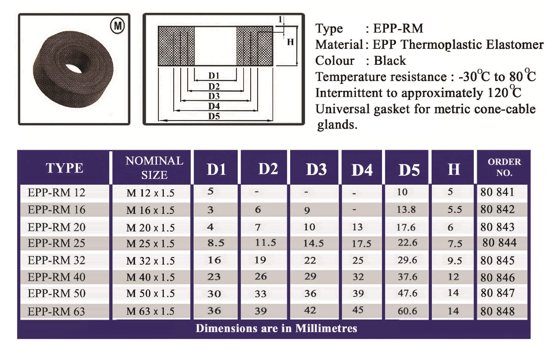 E.P.P - RM Technical Datasheet
