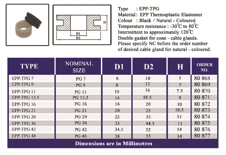 E.P.P - TPG Technical Datasheet
