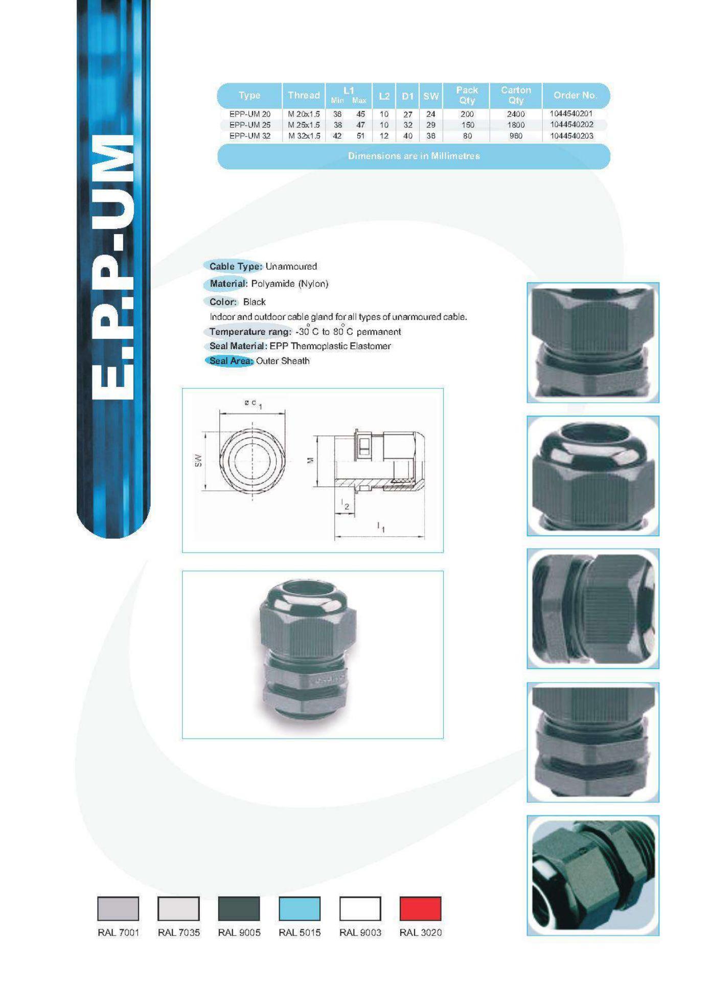 E.P.P UM Technical Datasheet