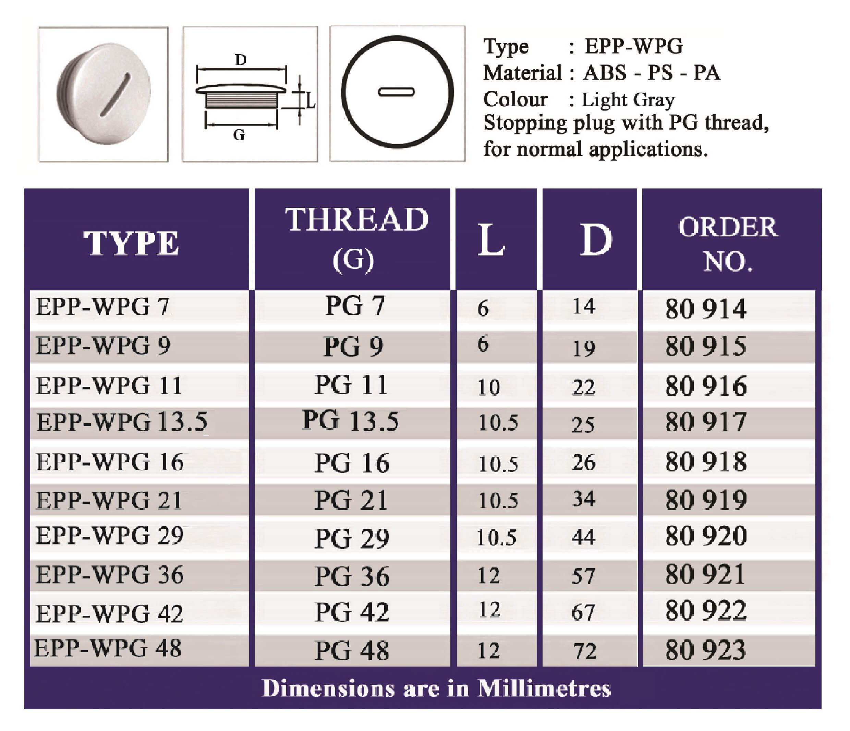 E.P.P - WPG Technical Datasheet