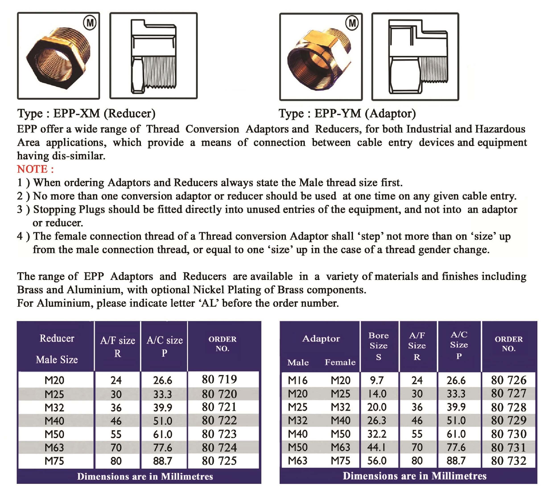 E.P.P - XM - YM Technical Datasheet