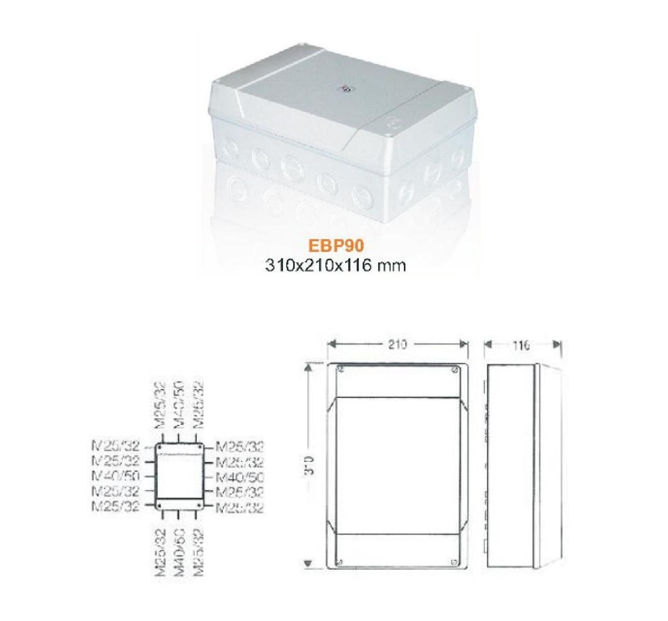 جعبه تقسیم پلاستیکی EBP