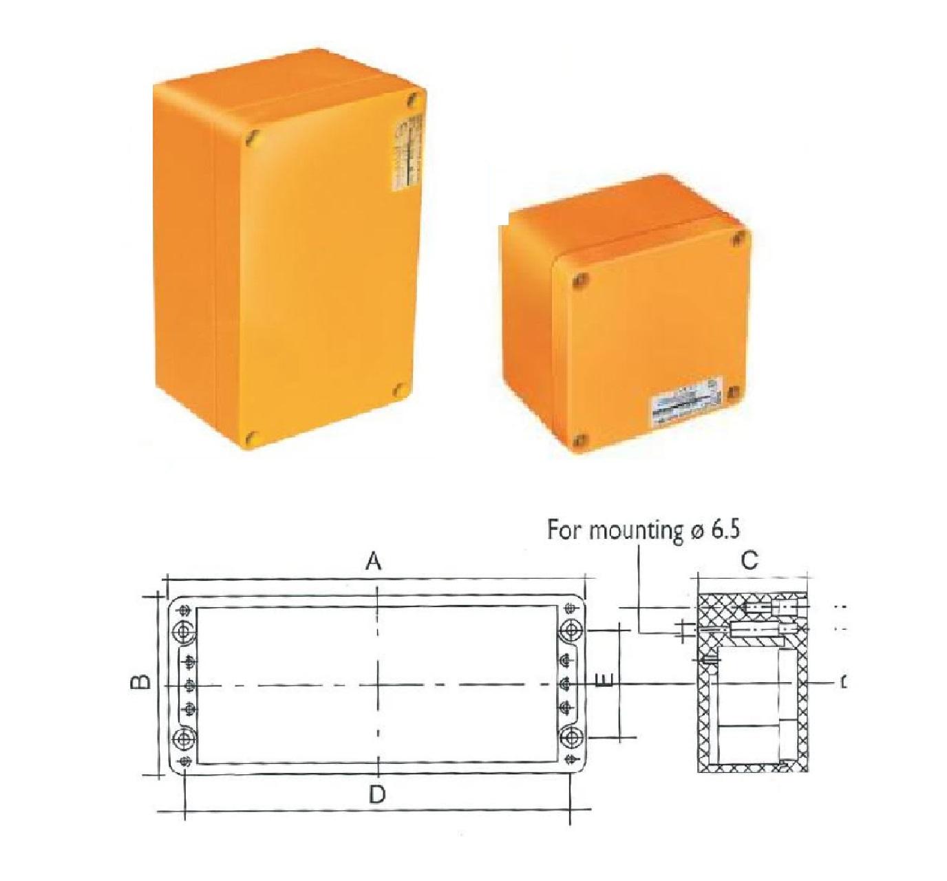 جعبه تقسیم متالیک EBM