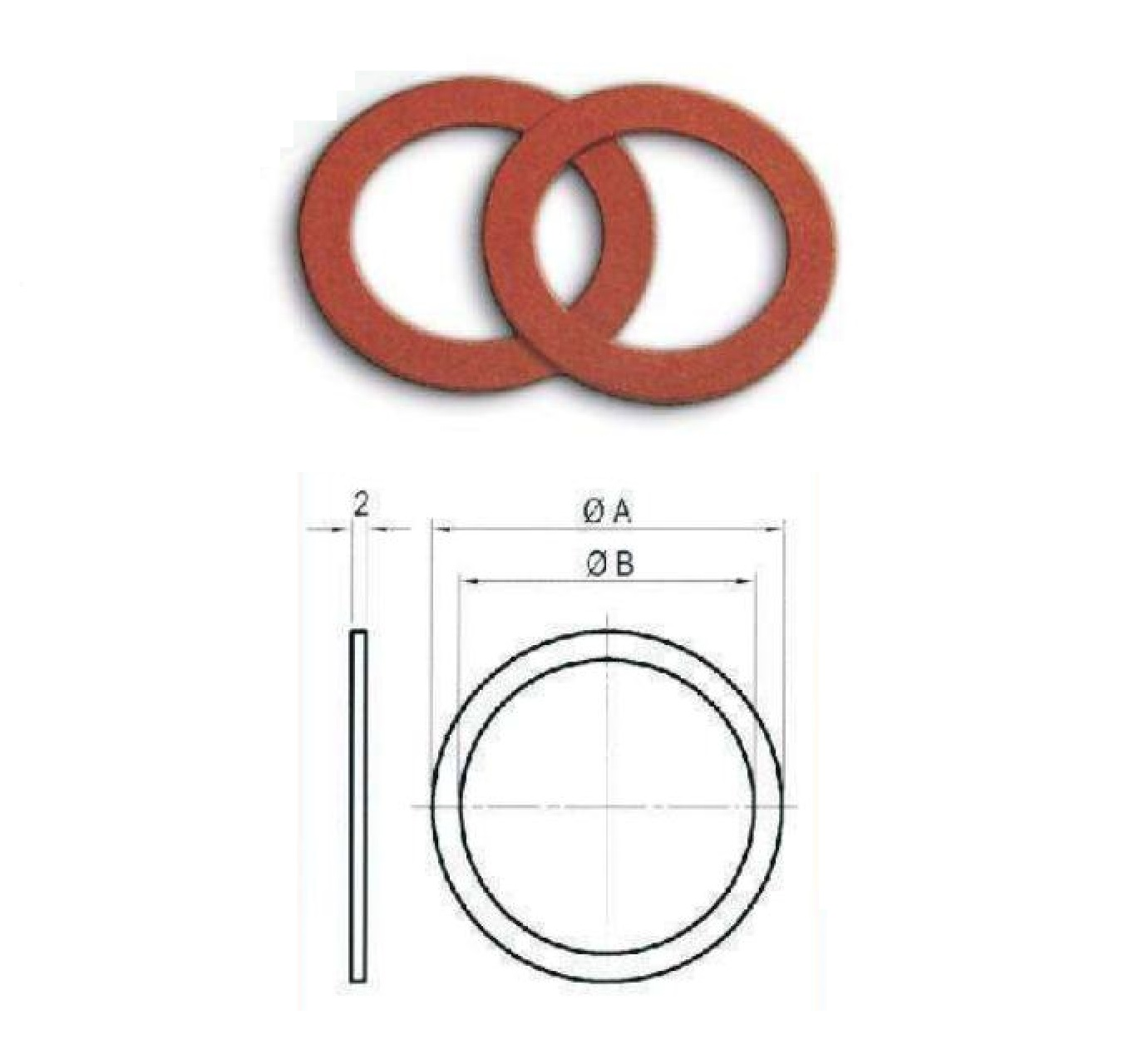 Fibre Sealing Washers