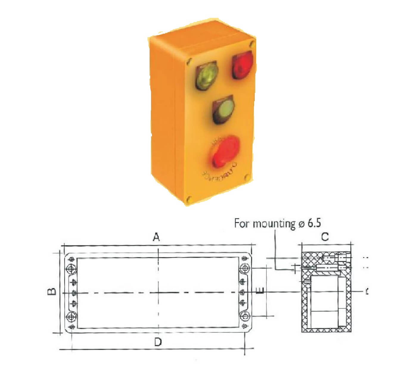 Control Box Cross Section