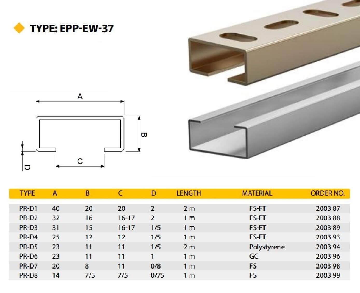 E.P.P - PR-D Technical Datasheet