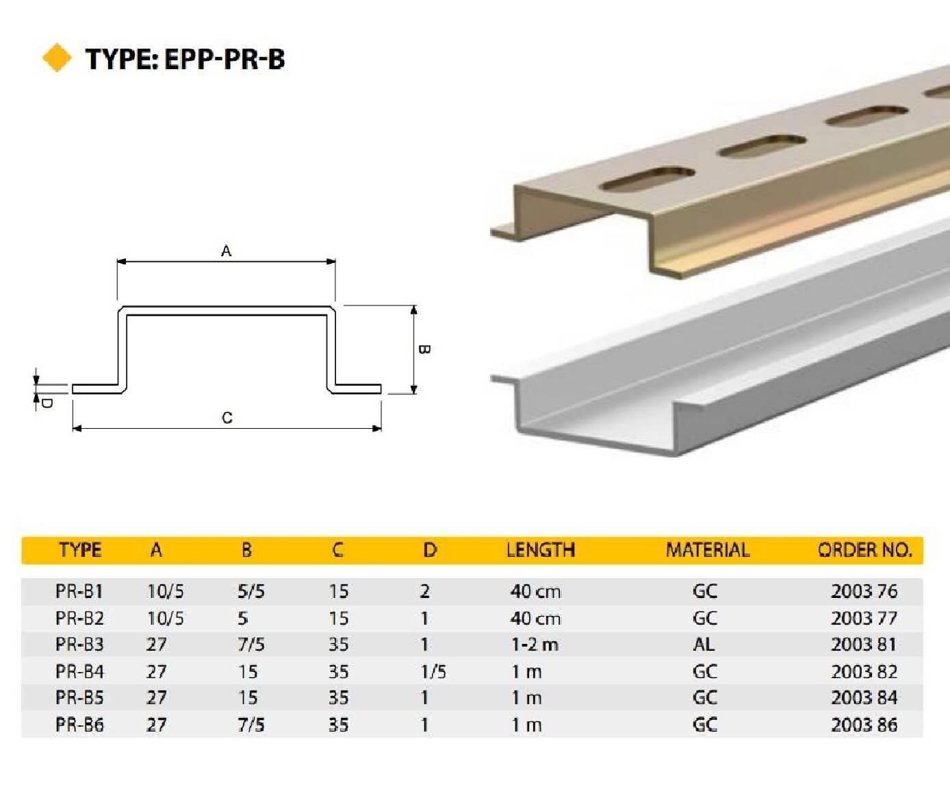 E.P.P - PRB Technical Datasheet