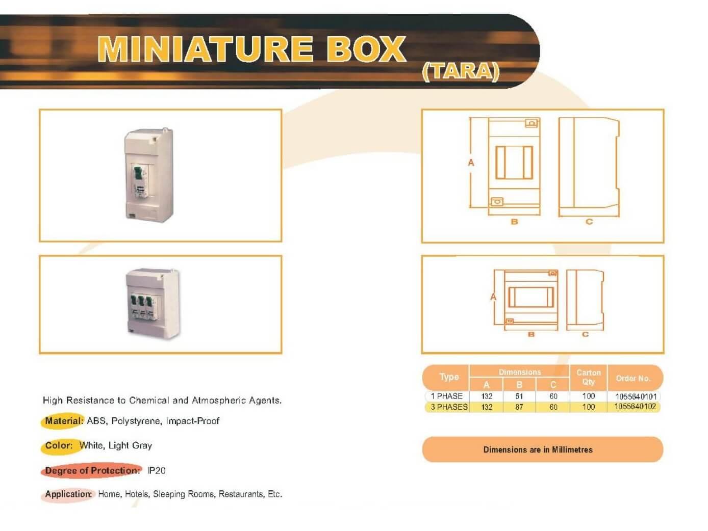 Miniature Box Technical Datasheet