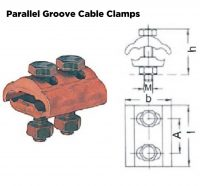 Parallel Groove Cable Clamp Cross Section